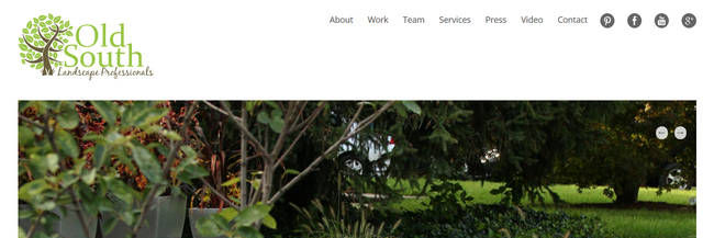 Old South Landscape Professionals, web design, responsive design