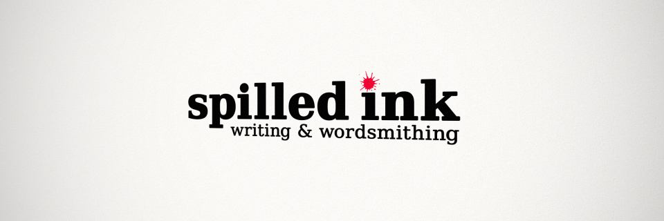 Spilled Ink Writing and Wordsmithing logo.